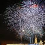 Салют в честь 68 годовщины снятия блокады Ленинграда