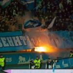 Зенит-Динамо фаершоу на Петровском