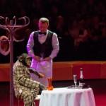 Цирк на Фонтанке «Сценка в ресторане» дрессура обезьян – А.Теплыгин