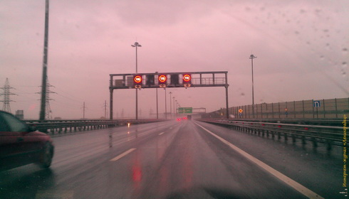 ГИБДД не регулирует скорость на КАД С-Пб