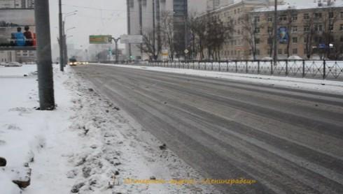 Уборка дорог Санкт-Петербурга 1 декабря 2012г.