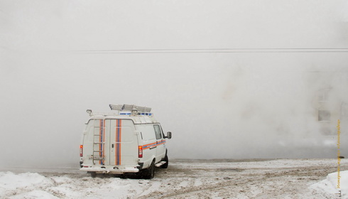 Прорыв теплосетей на ул. Зины Портновой