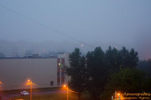 Дым с Волхонского шоссе накрыл Юго-Запад Санкт-Петербурга