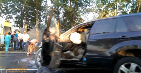 ДТП на трассе М-20 горит машины