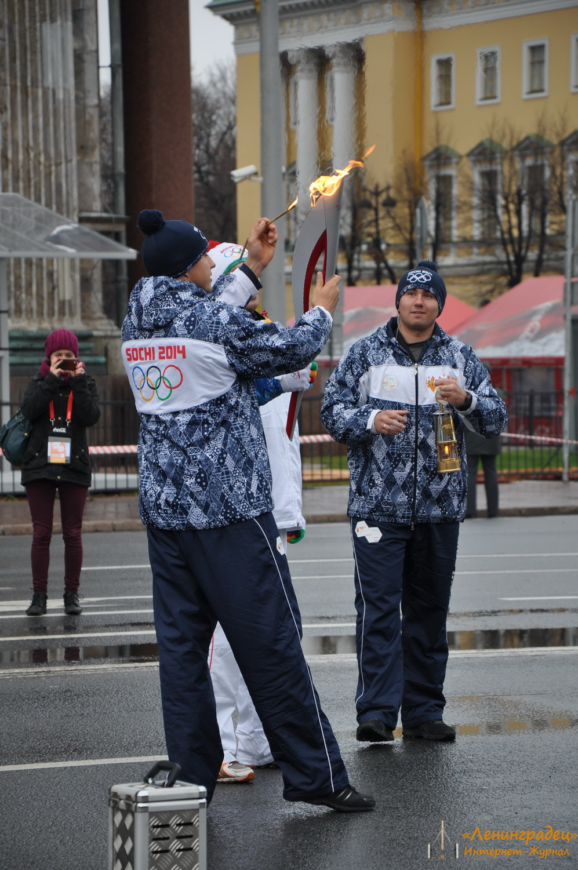 презентация олимпийского факела 2014
