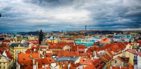 Панорама Праги со Староместкой башни
