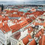 Панорама Праги со Староместской ратуши