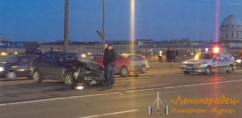 ДТП на Тучковом мосту
