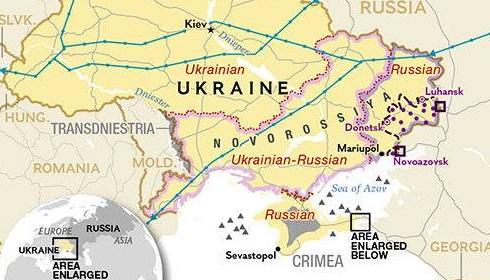 Карта новой Украины и Новороссии