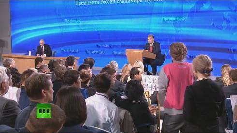 Пресс-конференция В.В. Путина 18.12.2014