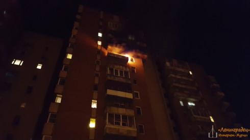 Пожар Ленинский пр. 117 корпус 1